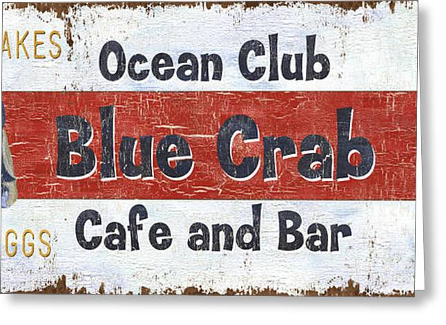 Ocean Club Cafe Greeting Card by Debbie DeWitt