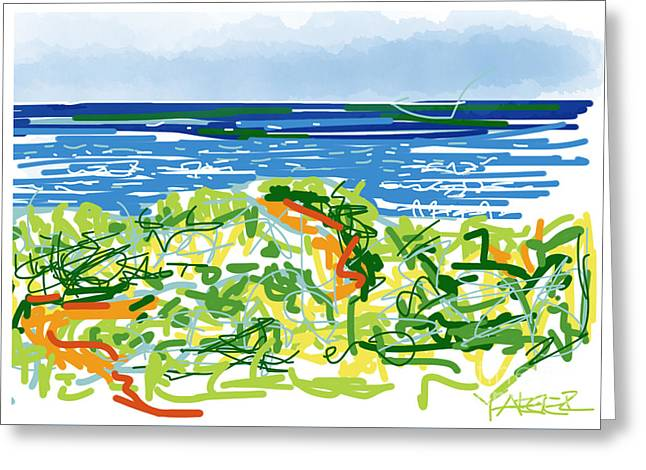 North Shore Drawings Greeting Cards - Ocean Escape Greeting Card by Robert Yaeger