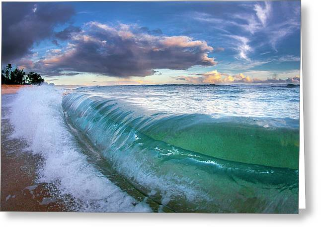 Ocean Fold Greeting Card by Sean Davey