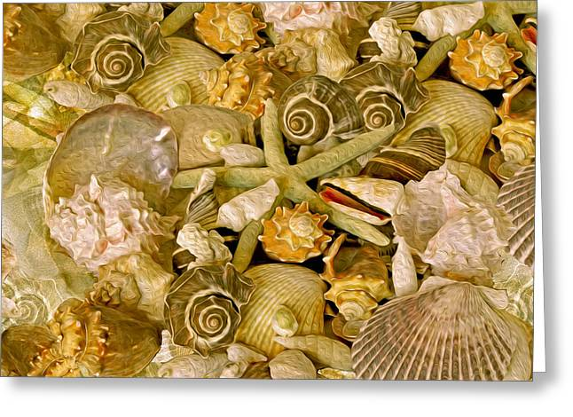 Warm Tones Greeting Cards - Ocean Gems 13  Greeting Card by Lynda Lehmann