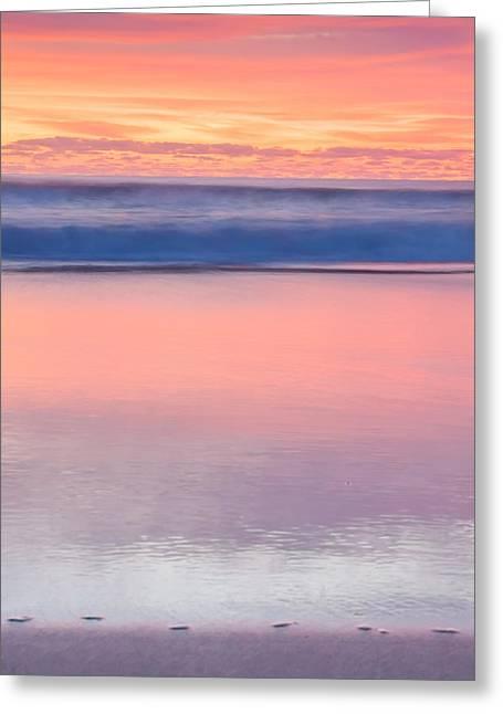 Ocean Glow Greeting Card by Az Jackson