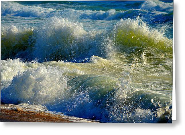 New England Ocean Greeting Cards - Ocean Gone Wild Greeting Card by Dianne Cowen