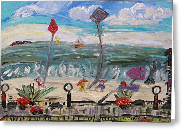 Mcw Greeting Cards - Ocean Grove Greeting Card by Mary Carol Williams