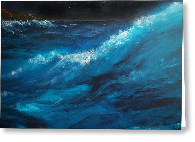 Beach At Night Greeting Cards - Ocean II Greeting Card by Patricia Motley