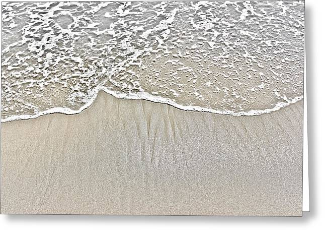 Ocean Photography Greeting Cards - Ocean Lace Greeting Card by Colleen Kammerer