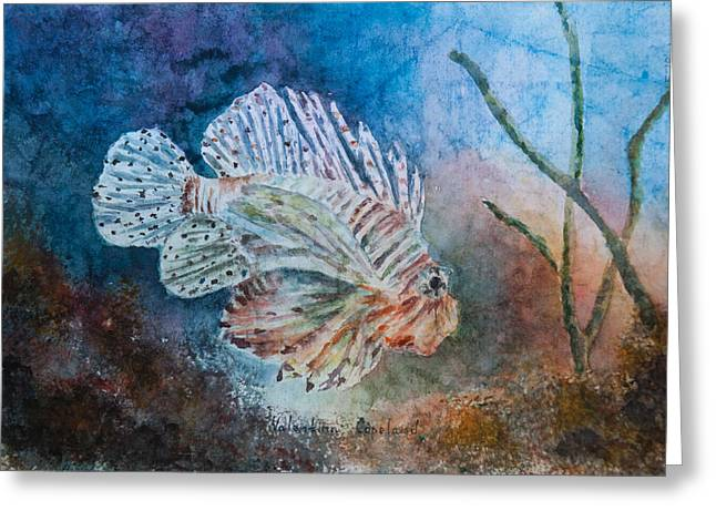 Aquatic Greeting Cards - Oceans Lion Greeting Card by Valentina Copeland