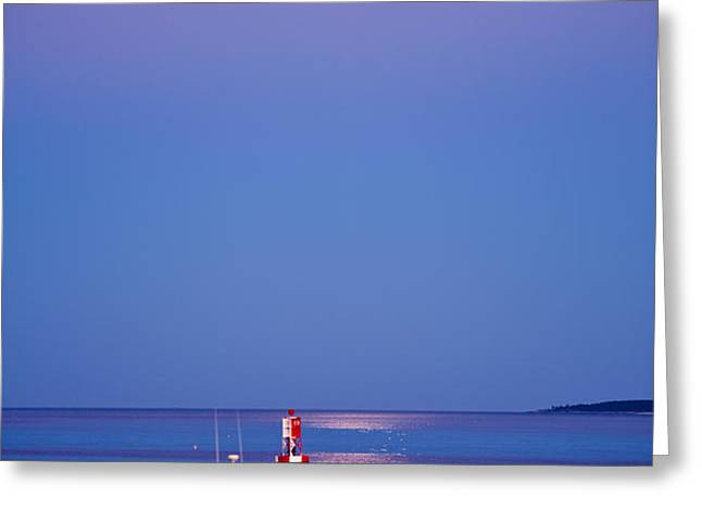 Ocean Moonrise Greeting Card by Steve Gadomski