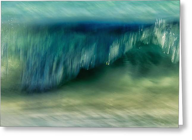 Sunset Abstract Photographs Greeting Cards - Ocean Motion Greeting Card by Stylianos Kleanthous