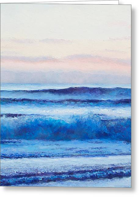 Beach Cottage Style Greeting Cards - Ocean Painting - Ultramarine Blue Greeting Card by Jan Matson