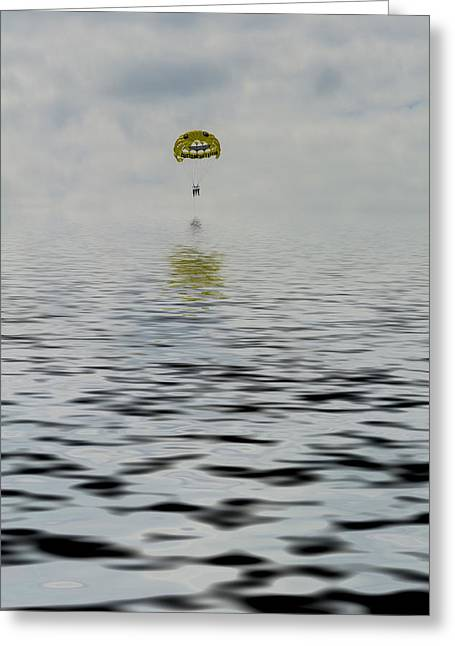 My Ocean Greeting Cards - Ocean Parasail  Greeting Card by Kevin Cable