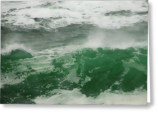 Absract Greeting Cards - Ocean Spray Greeting Card by Donna Blackhall