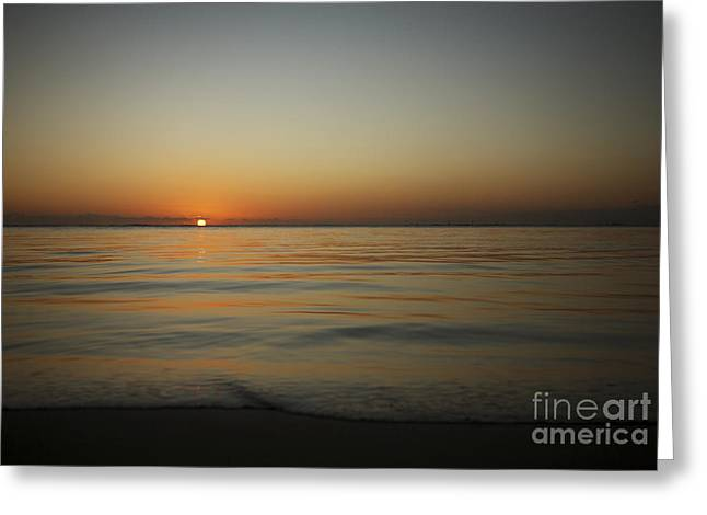 Amazing Sunset Greeting Cards - Ocean Sunset Greeting Card by Brandon Tabiolo - Printscapes