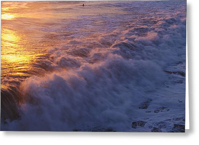 Ocean Panorama Greeting Cards - Ocean Surf Greeting Card by Panoramic Images