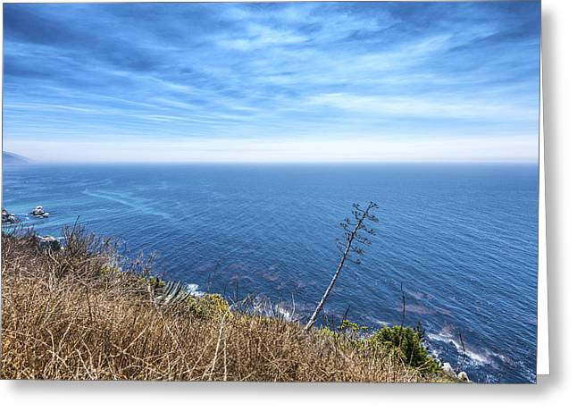 Big Sur California Greeting Cards - Ocean View Greeting Card by Joseph S Giacalone
