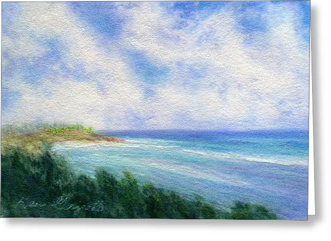 Sand Pastels Greeting Cards - Ocean View Greeting Card by Kenneth Grzesik
