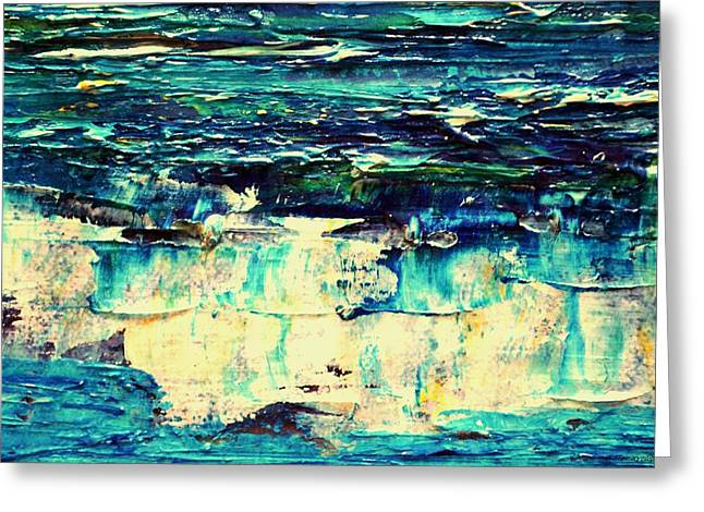 Abstract Waves Greeting Cards - Ocean Waves 1 Greeting Card by Dimitra Papageorgiou