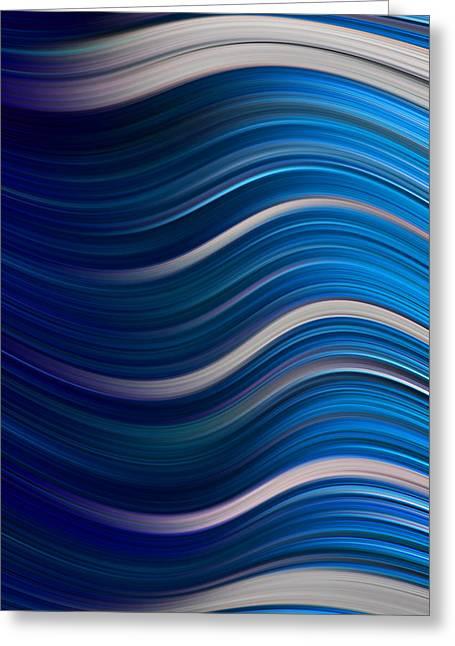 Top Seller Greeting Cards - Ocean Waves Greeting Card by Ken Smith