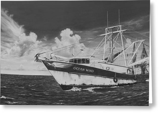 Ocean Wind Greeting Card by Bobby Goldsmith