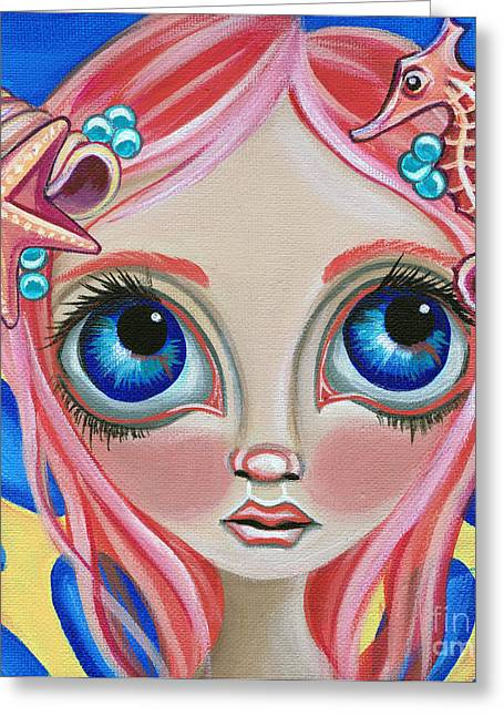 Faery ists Paintings Greeting Cards - Oceanic Fairy Greeting Card by Jaz Higgins