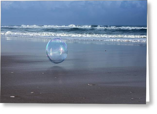 Oceanic Sphere  Greeting Card by Betsy Knapp