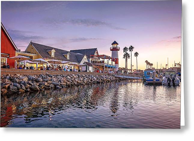 Oceanside Harbor Greeting Card by Ann Patterson