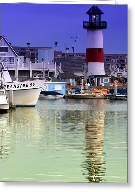 Djphoto Greeting Cards - Oceanside Light Greeting Card by DJ Florek