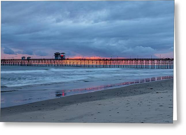 Storm Clouds Greeting Cards - Oceanside Greeting Card by Peter Tellone