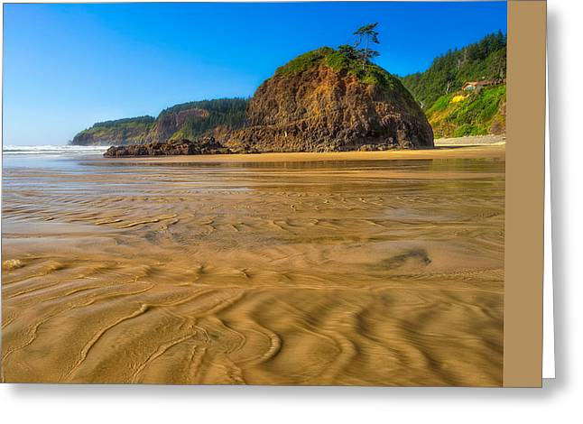 Sand Pattern Greeting Cards - Oceanside State Park  Greeting Card by Drew Castelhano