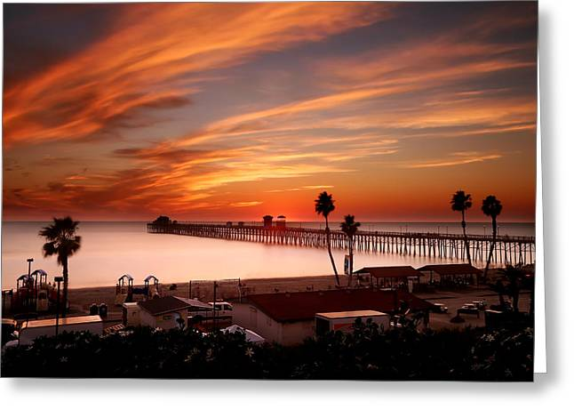 Marshall Greeting Cards - Oceanside Sunset 10 Greeting Card by Larry Marshall
