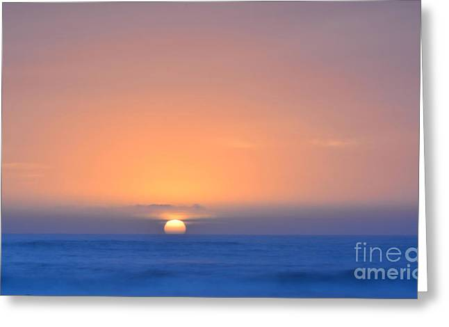 Wishes Greeting Cards - Oceanside Sunset Greeting Card by Milton Elliott