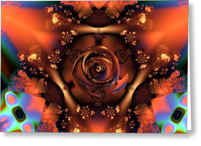 Abstract Colorful Algorithmic Digital Contemporary Greeting Cards - Ocf 390 Greeting Card by Claude McCoy