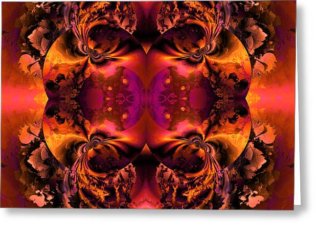 Algorithmic Greeting Cards - OCF 411 Twin union Greeting Card by Claude McCoy