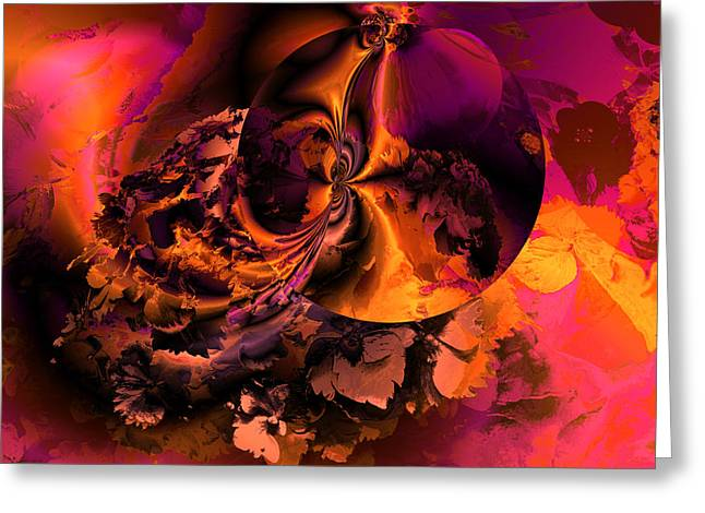 Algorithmic Greeting Cards - OCF 418 Transient flirtation Greeting Card by Claude McCoy