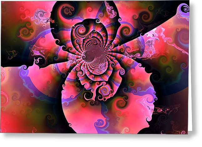 Abstract Colorful Algorithmic Digital Contemporary Greeting Cards - Ocf 446 Greeting Card by Claude McCoy