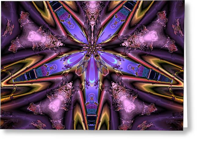 Abstract Colorful Algorithmic Digital Contemporary Greeting Cards - Ocf 483 Greeting Card by Claude McCoy