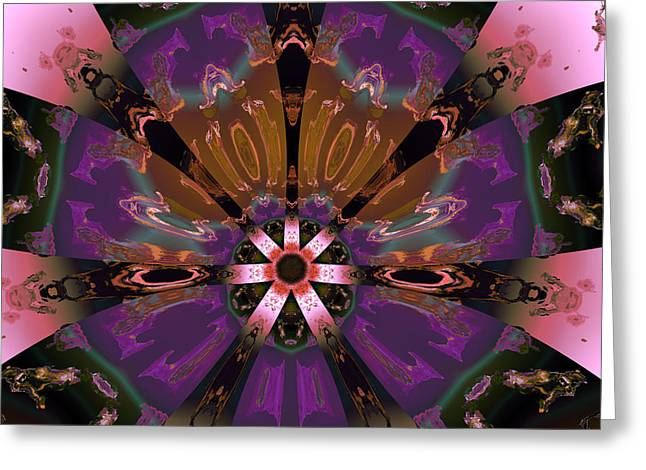 Abstract Colorful Algorithmic Digital Contemporary Greeting Cards - Ocf 484 Greeting Card by Claude McCoy