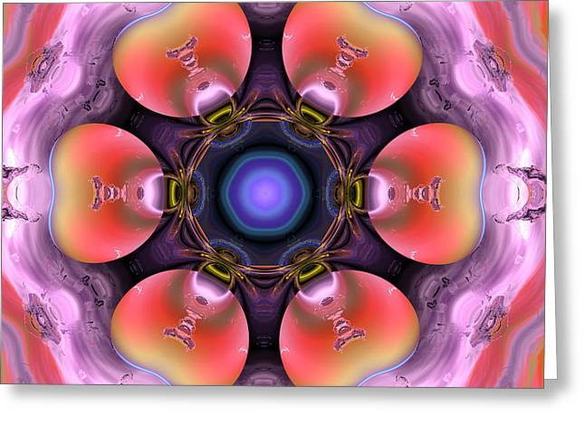 Abstract Colorful Algorithmic Digital Contemporary Greeting Cards - Ocf 487 Greeting Card by Claude McCoy