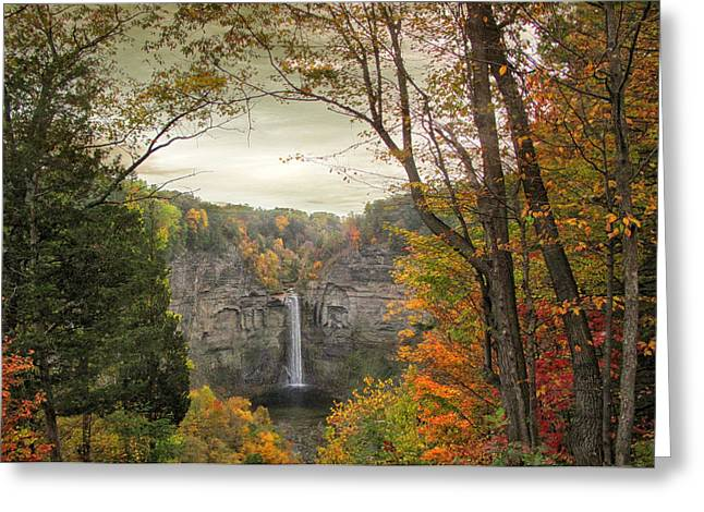 Ithaca Greeting Cards - October at Taughannock Greeting Card by Jessica Jenney