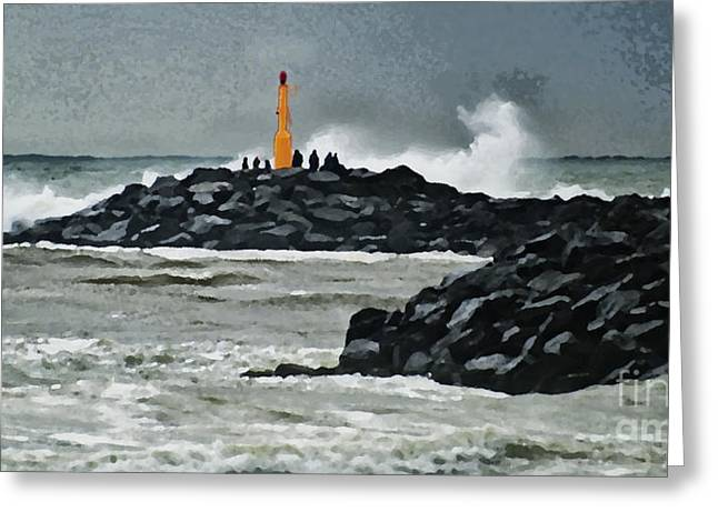 October At The Sea Greeting Card by Wedigo Ferchland