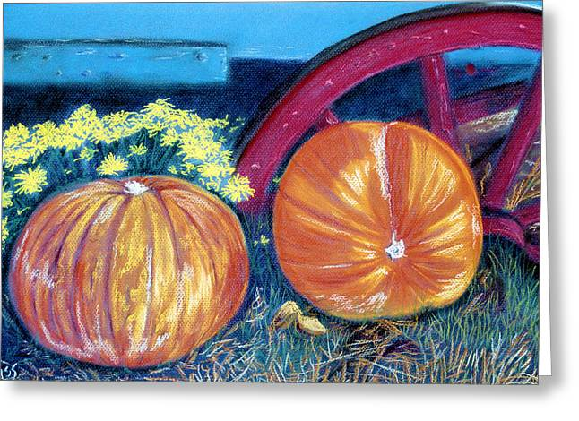 Wagon Pastels Greeting Cards - October Colors Greeting Card by Jan Amiss