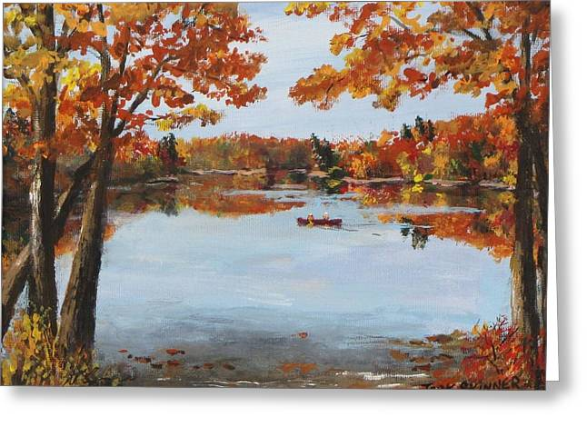 Walden Pond Greeting Cards - October Morn at Walden Pond Greeting Card by Jack Skinner