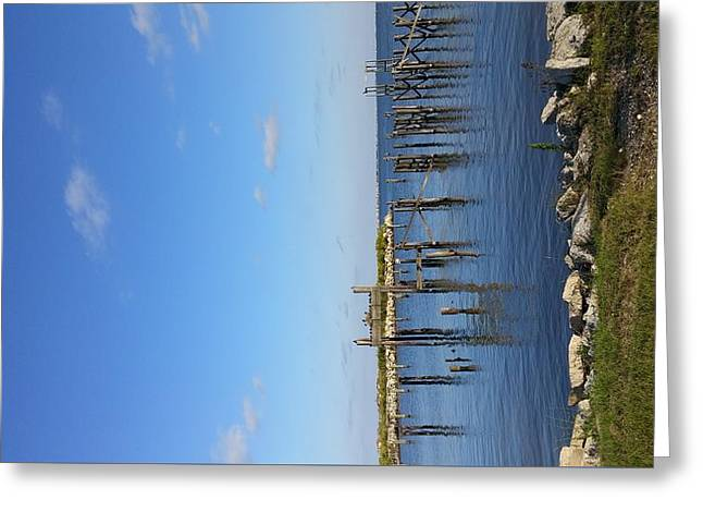 October On The Lake Greeting Card by Theresa Jeffers