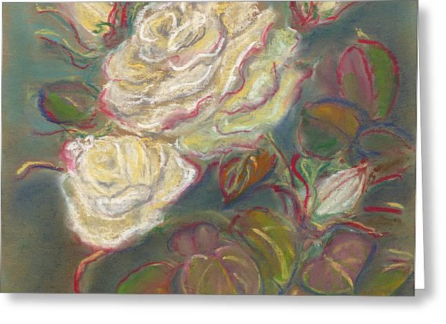 Polish American Art Greeting Cards - October Rose Greeting Card by Anna Folkartanna Maciejewska-Dyba