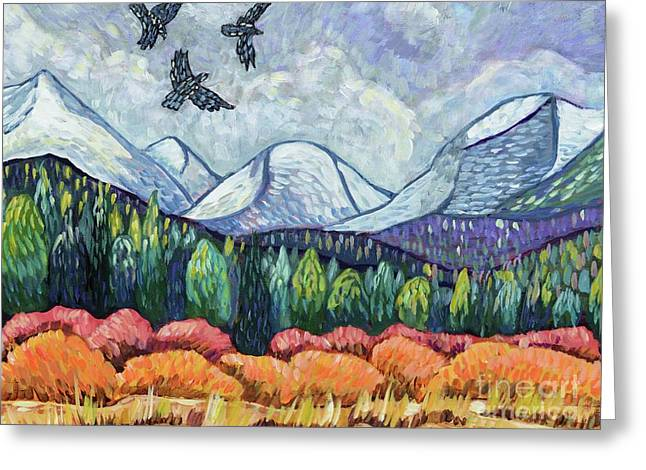 October's Change Greeting Card by Harriet Peck Taylor