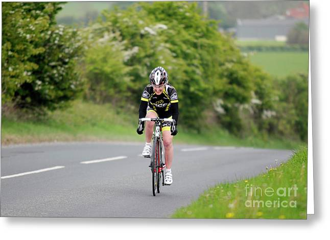 Time Trials Greeting Cards - Octon 13.7 Time Trial Greeting Card by David  Hollingworth