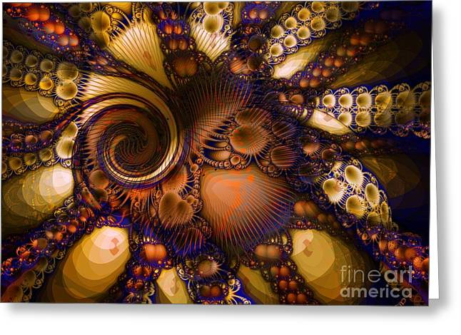 Digital Images Greeting Cards - Octopoda Greeting Card by Ron Bissett