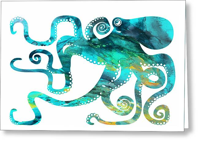 Octopus 2 Greeting Card by Donny Art