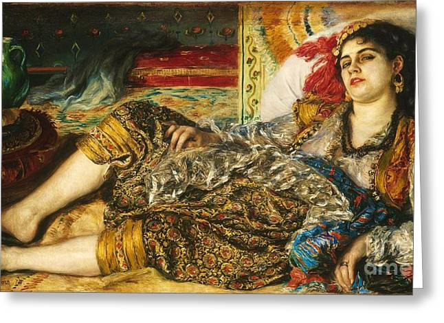 Renoir Greeting Cards - Odalisque Greeting Card by Pg Reproductions