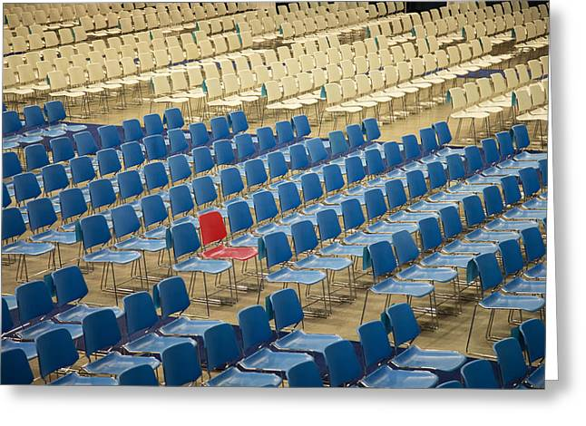 Open Air Theater Greeting Cards - Odd chair Greeting Card by Diana Hughes