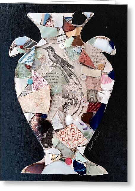 Glass Vase Greeting Cards - Ode to a Broken Urn Greeting Card by Carol Neal